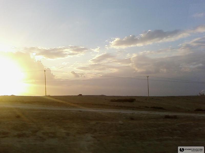 закат в пустыне Негев