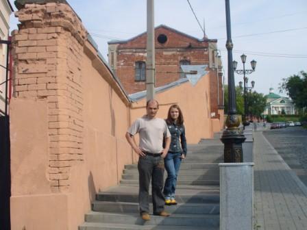 Я с дочерью в Томске
