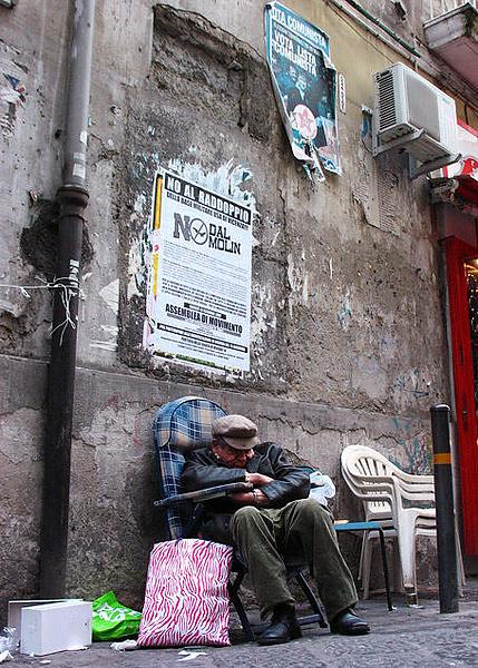 Уличный торговец.Переучет.Napoli
