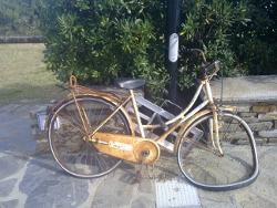 Кто-то забыл велосипед...