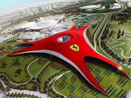 Парк развлечений Ferrari World в ОАЭ