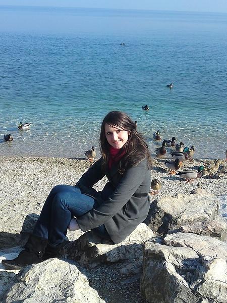 Lago di Garda. я и утки)))