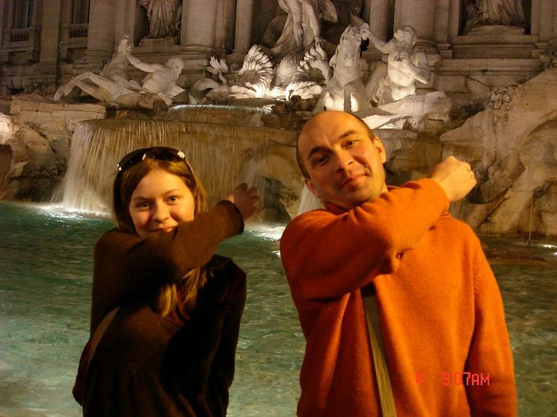 Я со своей Бамбиной в Риме