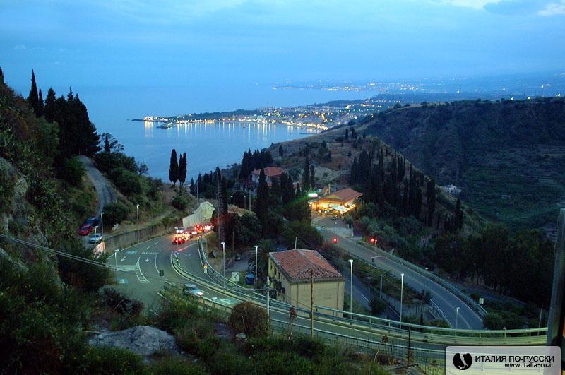 Сицилия ночью