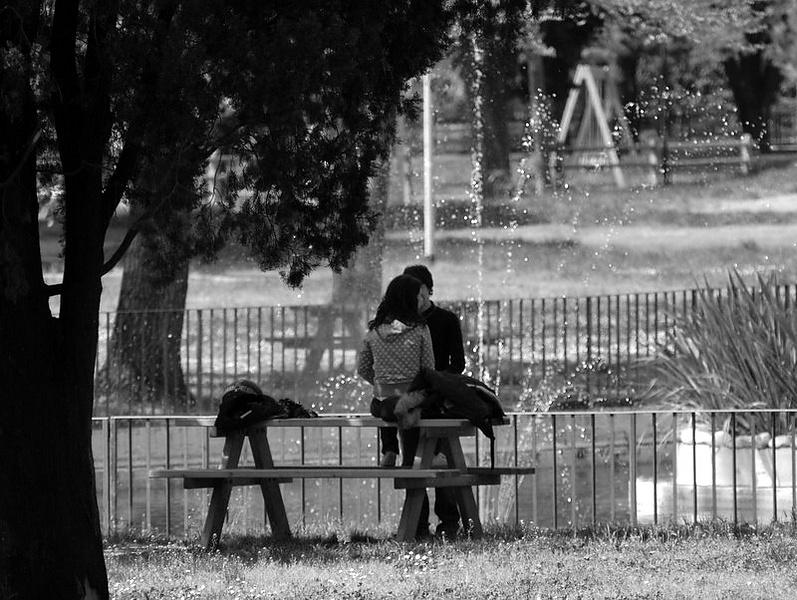 пргулки в парке