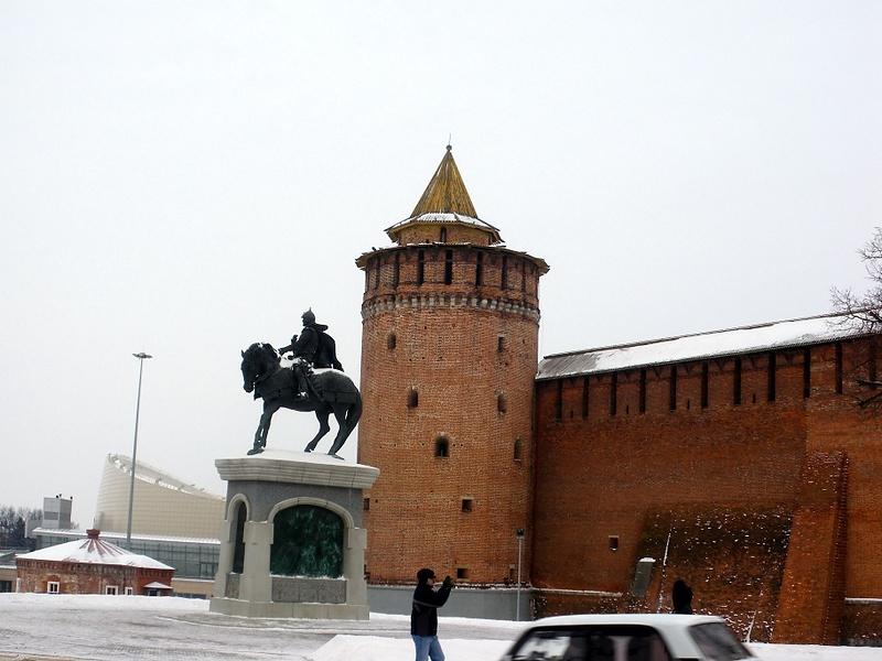 Коломна.Маринкина башня и памятник Дмитрию Донскому
