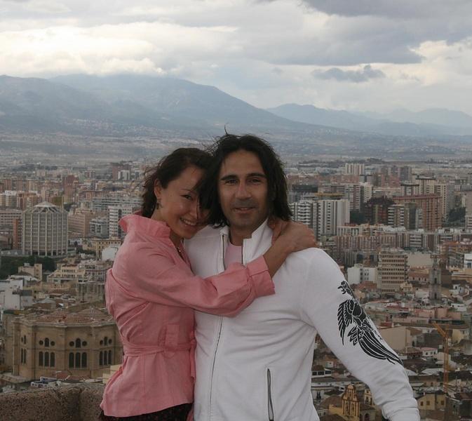 я с мужем. Малага, июнь, 2008