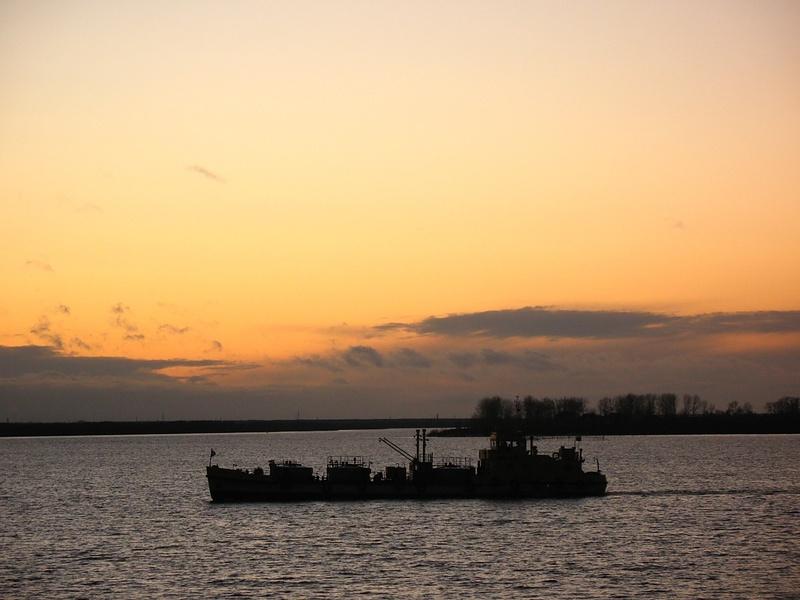 Северная Двина, закат