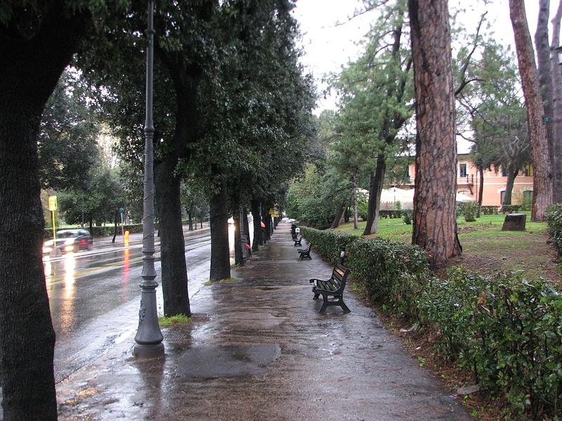 Весна.Рим.Дождь.