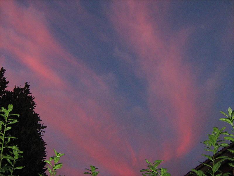 Небо на закате солнца
