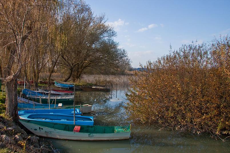 Lago di Chiusi «рыбацкие лодки»