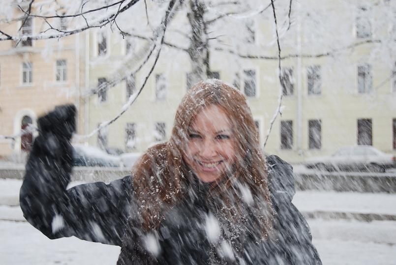 А у нас уже зима. А у вас?