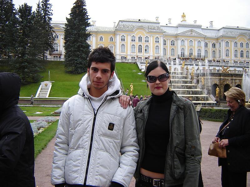С парнем-итальянцем в Петергофе