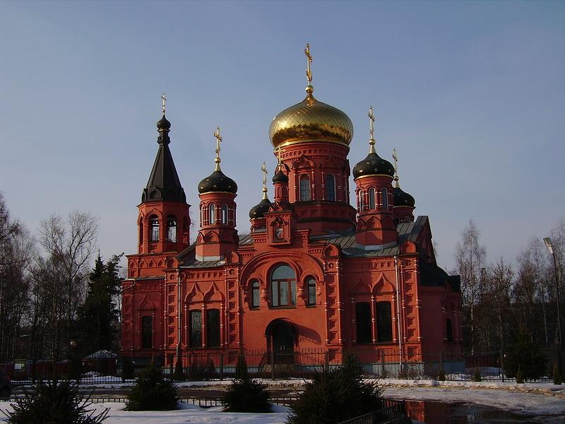 храм в Изварино недалеко от Внуково
