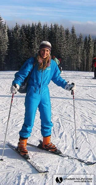 Santina-лыжница!