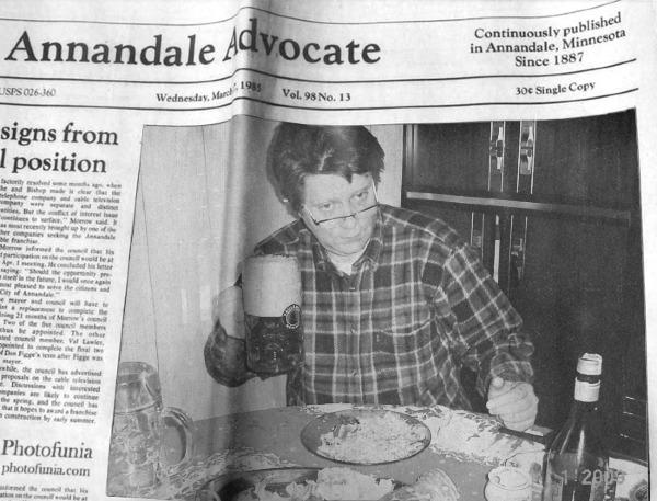 Пьянь попала на первые страницы газет