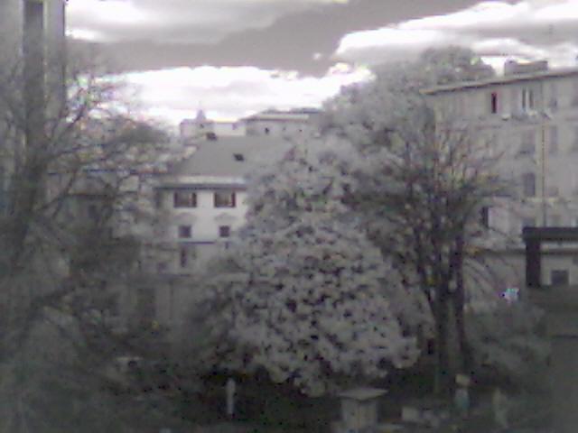 Вид с моего окна в инфракрасных лучах!