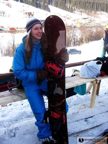 Santina-сноубордистка!