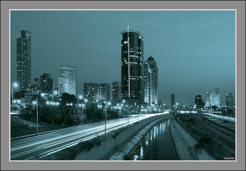 Вечерний город.