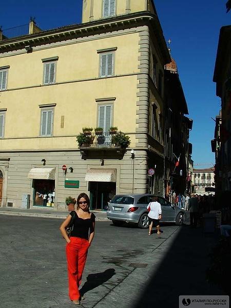 """В Ареццо (в этом городе снимали эпизоды из фильма """"La vita e' bella"""")"""
