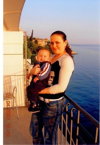 Я, мой сынуля Маттео 1,5 года в Хорватии город Рьека