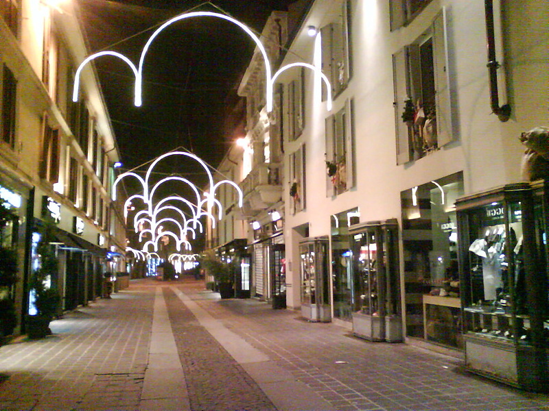 Ночная улица г.Монза