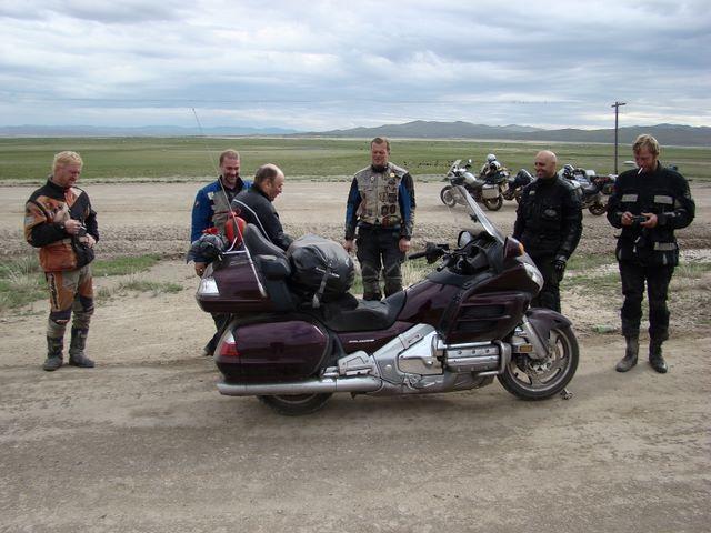 Встреча байкеров в Монголии