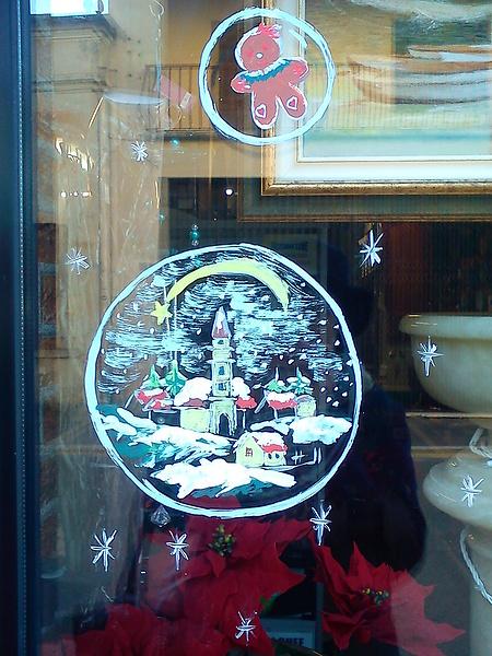 Рождественская витрина. Россано Венето.