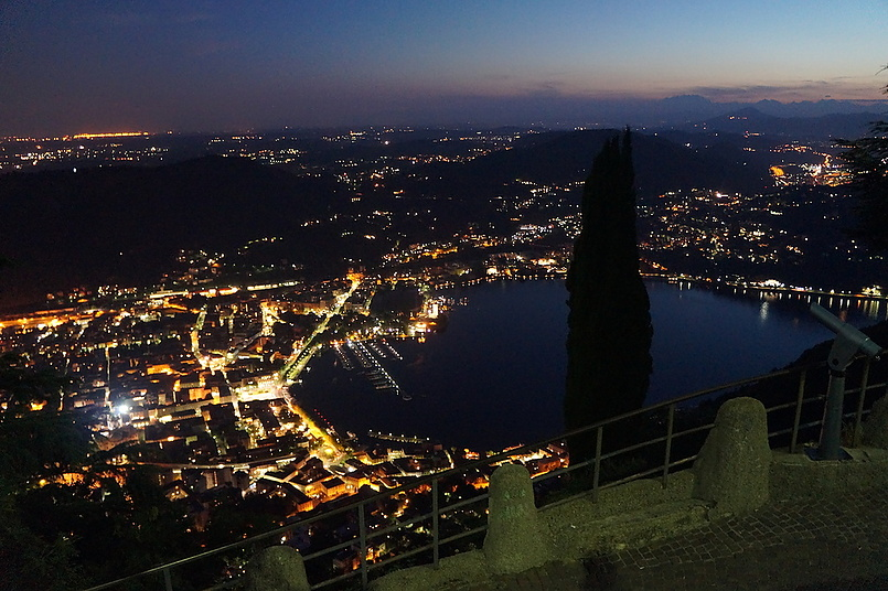 Ночь на Lago di Como.