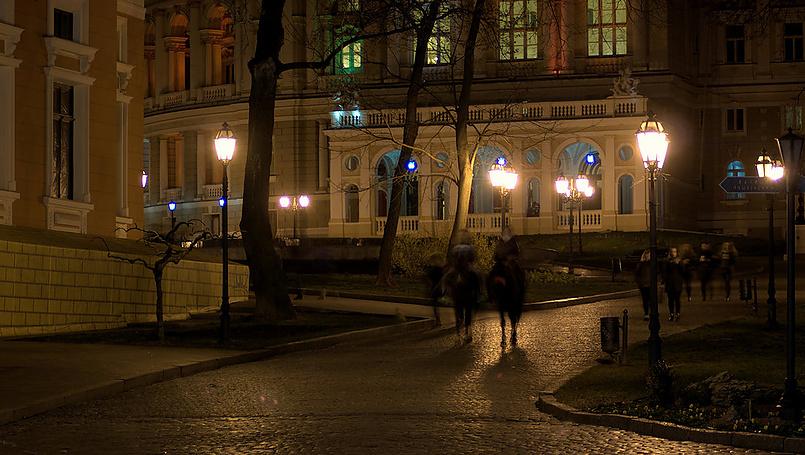 Ночная Одесса , апрель 2015
