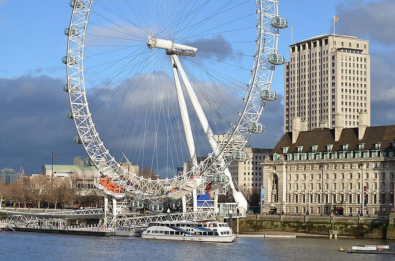 Лондонское колесо обозрения.