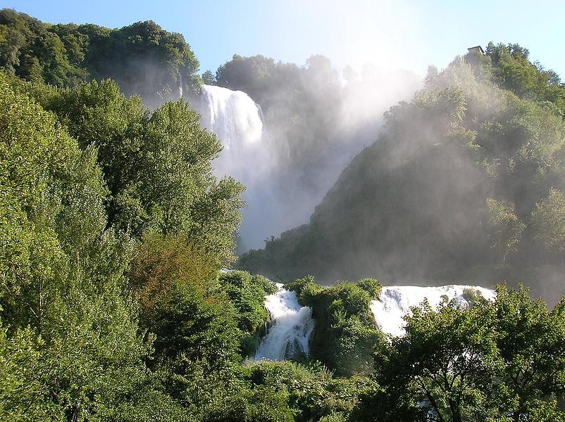 Мраморный водопад. Умбрия