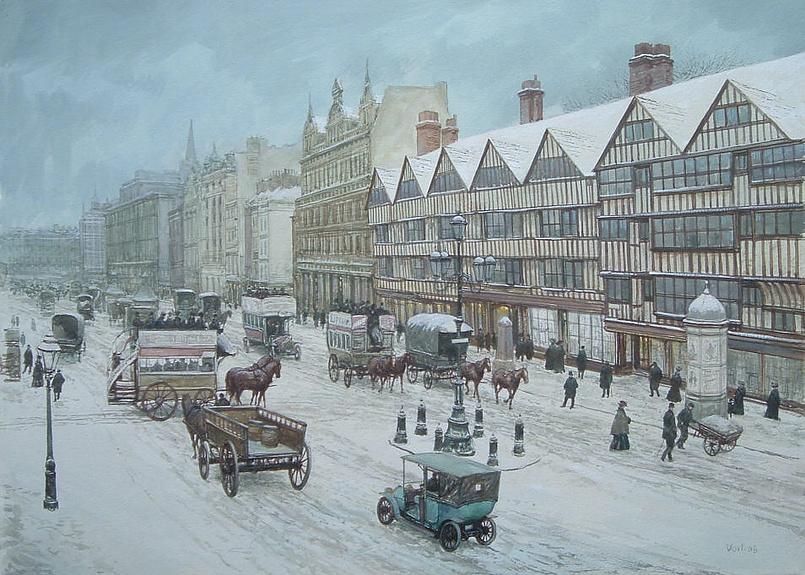 Лондон под снегом
