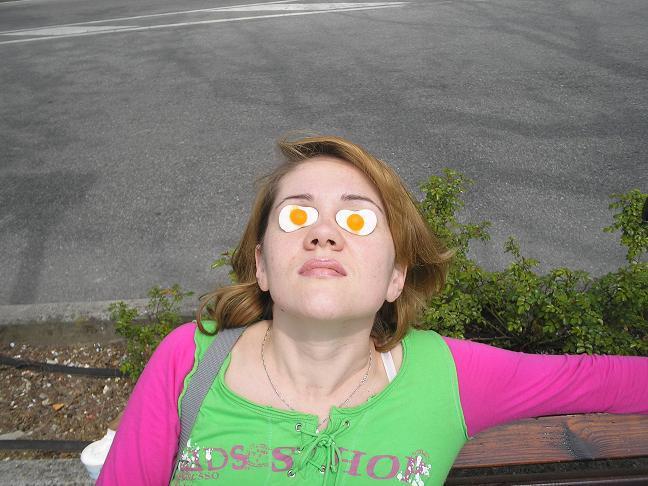 Я на солнышке лежу... или как приготовить яичницу.