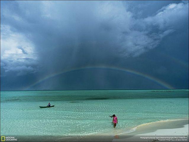 Морская радуга.