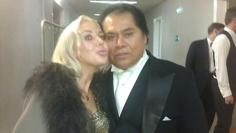 С любимым другом Алехандро Ольмедо