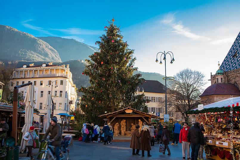 Новогодняя елка в Больцано