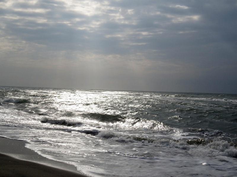 Тирренское море в Остии Лидо.