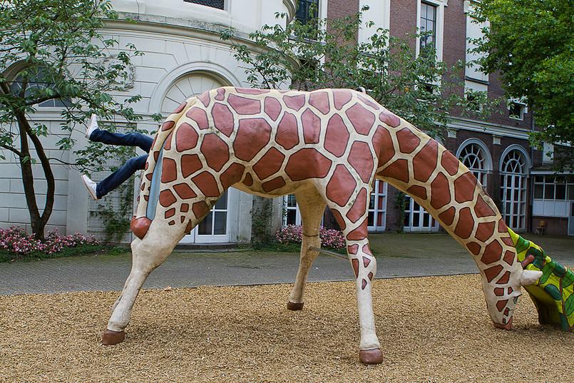 На детской площадке в зоопарке Амстердама