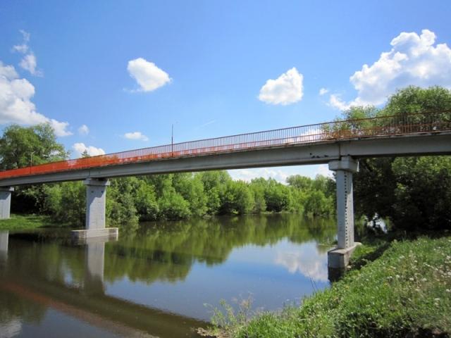Река Осетр и мост