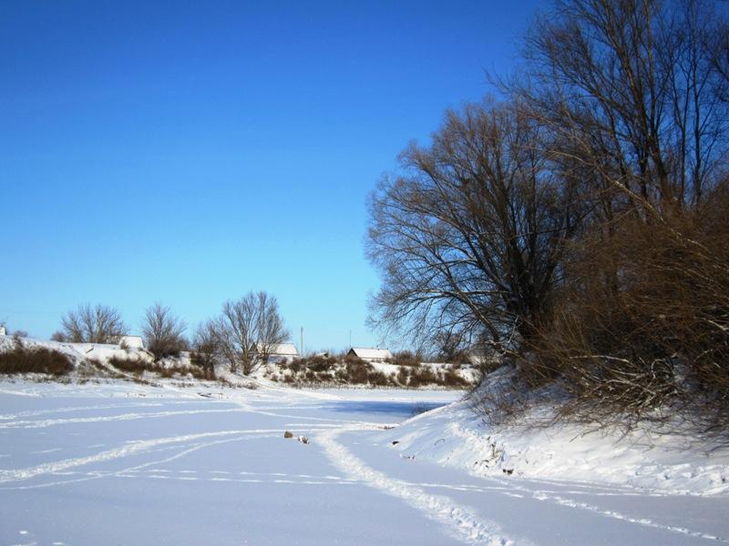 Мороз , солнце и...следы