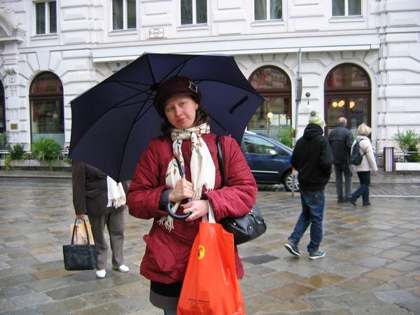Я, венский дождь и венский зонт.