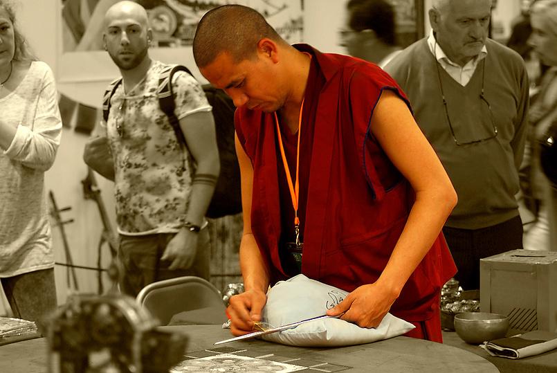 Тибетский (тибетанский)монах.