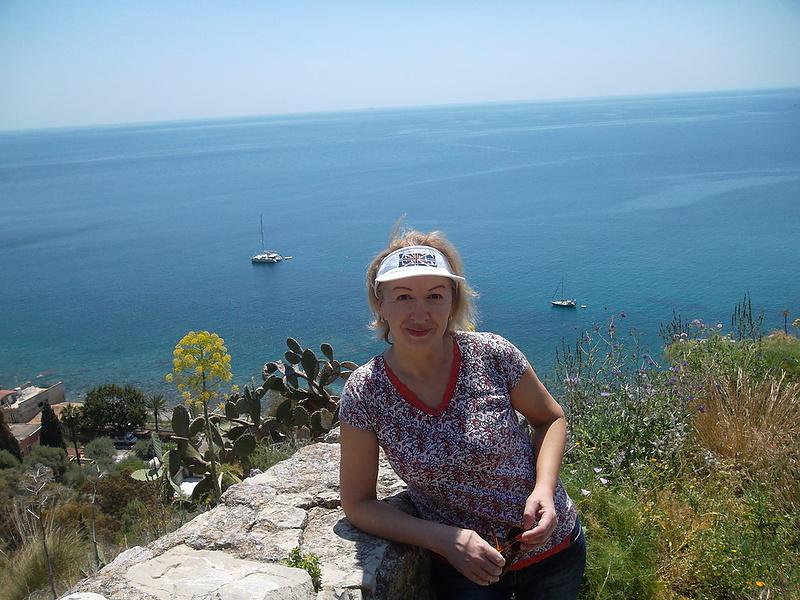 Вид на Ионическое море.