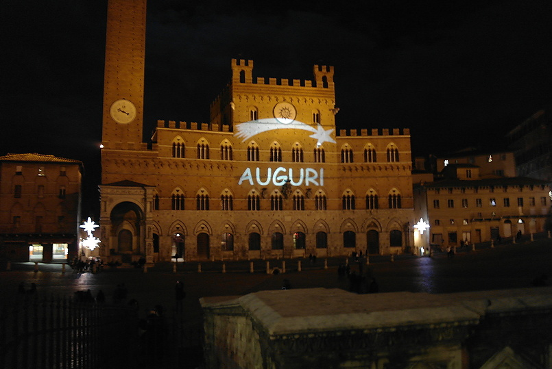 Piazza del Campo, праздничный вариант