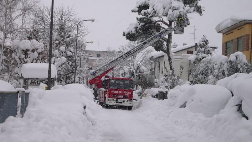 Италия в снегу