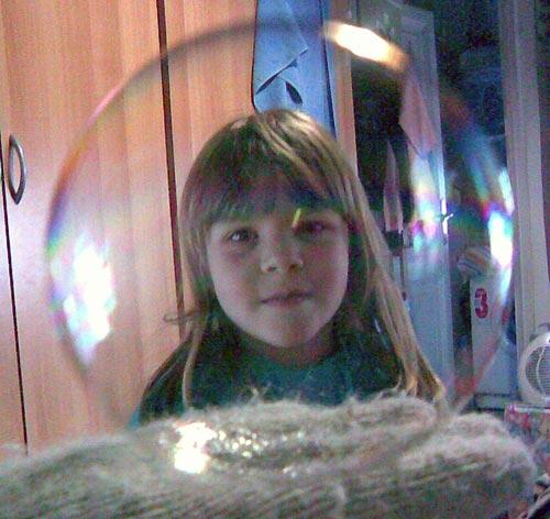 мыльный пузырь и дети