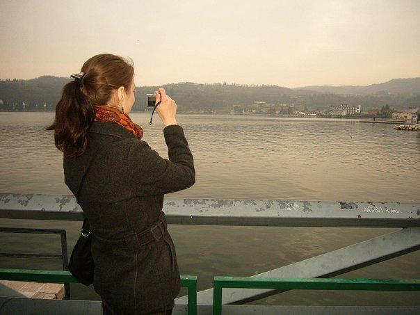 Lago di Garda. Фото в фото.