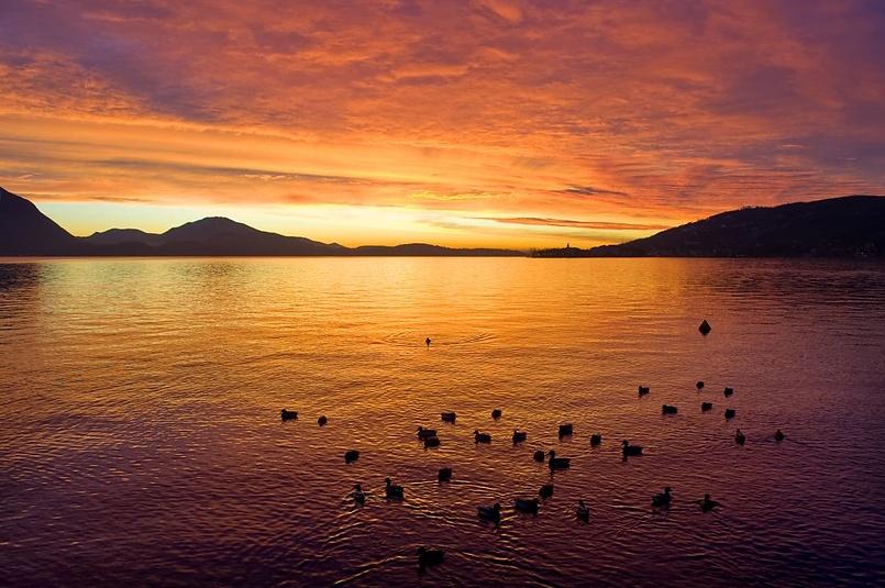Залив Борромео на озере Маджоре