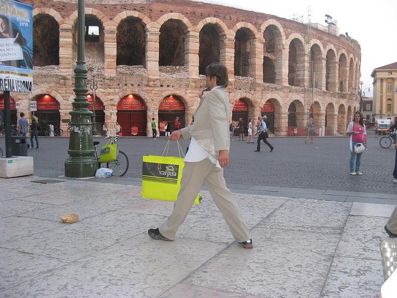 Ужин на площади перед римским театром